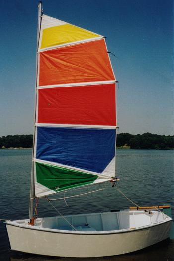 A colorful sail on a Car-Topper 9