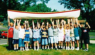 Phil's students build this SnowShoe Explorer 14 in 1995.  One of two each year.